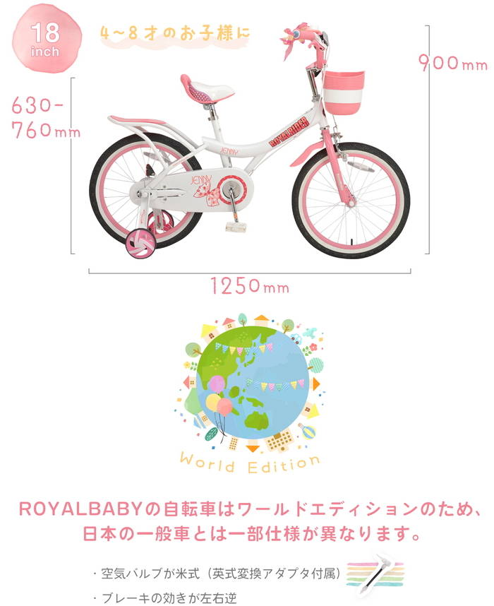 ROYAL BABY RB-WE JENNY 18の注意事項